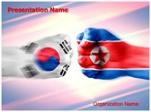 South Korea North Korea Powerpoint Template