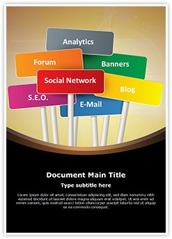 Internet Marketing Editable Word Template