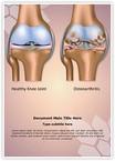 Knee Joint Osteoarthritis Word Templates