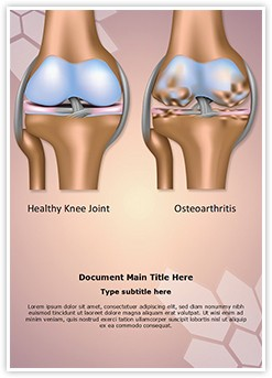Knee Joint Osteoarthritis Editable Word Template