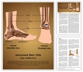 Metatarsal Ankle Joint Editable Word Template