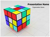 Rubiks Cube Editable PowerPoint Template