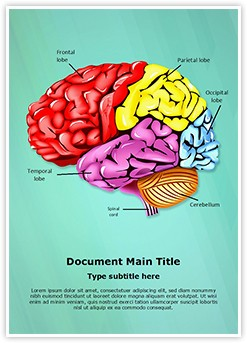 Cerebellum Brain Parts Editable Word Template