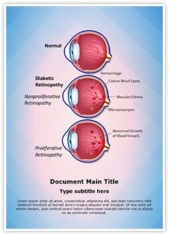 Retinopathy Diabetic Retinopathy Editable Word Template