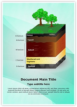 Soil Layers Editable Word Template