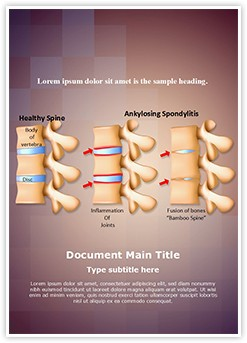 Spine Ankylosing Spondylitis Editable Word Template