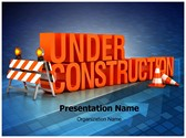 Under Construction Editable PowerPoint Template