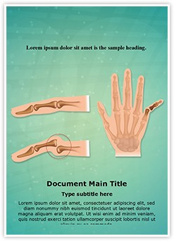 Orthopedic Finger Dislocation Editable Word Template