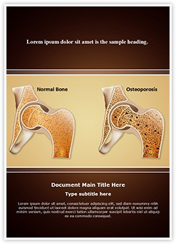 Osteopathy Osteoporosis Editable Word Template