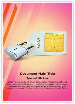 Sim Card Lock Editable Word Template