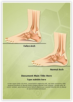 Pes Planus Flat Foot Editable Word Template
