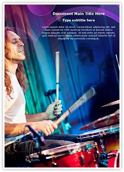 Playing Drums Editable Word Template