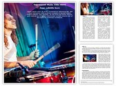 Playing Drums Template