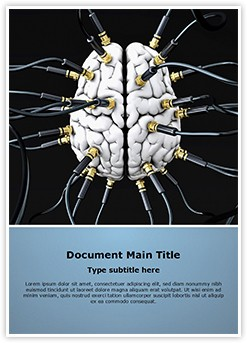 Artificial Brain Editable Word Template