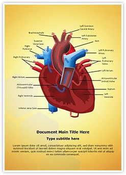 Heart Blood Circulation Editable Word Template