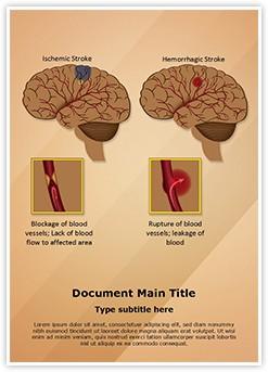 Ischemic Hemorrhagic Brain Stroke Editable Word Template