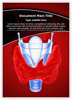 Thyroid Gland Goiter Editable Word Template