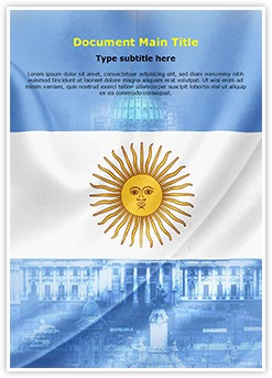 Argentina flag Editable Word Template