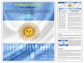 Argentina flag Editable Word Template