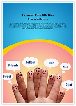 Communication Social Network Editable Word Template