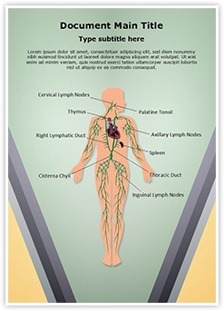 Lymphatic System Editable Word Template