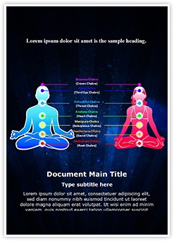 Meditation Position And Chakras Editable Word Template