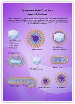 Morphology Viruses Editable Word Template