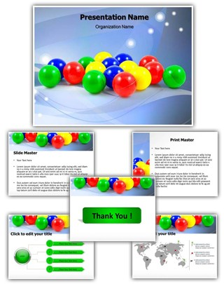 Balls PowerPoint Presentation Template With Editable Charts