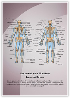 Human Bony System Editable Word Template