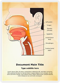 Nose Mouth and Throat Editable Word Template