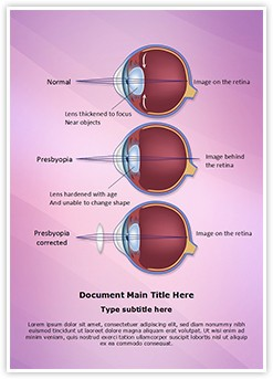Optometrist Presbyopia Editable Word Template