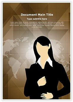 Business Female Entrepreneur Editable Word Template