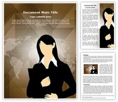 Business Female Entrepreneur Template