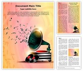 Gramophone Abstract Background Editable Word Template