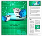 Medical Herbal Capsule Template