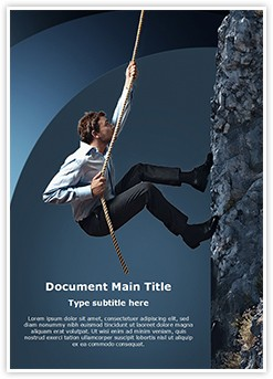 Climbing Businessman Editable Word Template