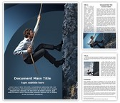Climbing Businessman