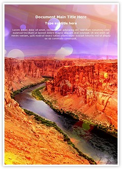 Desert River Editable Word Template