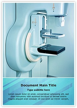 Mammography X Ray Machine Editable Word Template