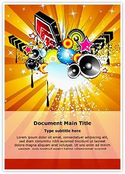 Retro Disco Party Abstract Editable Word Template