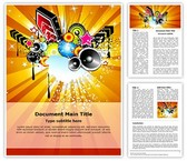 Retro Disco Party Abstract Template