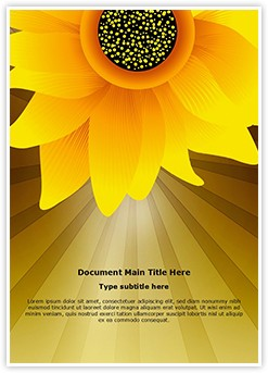 Sunflower Editable Word Template