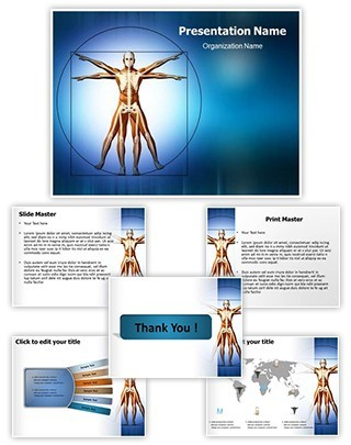 Vitruvian Man Editable PowerPoint Template