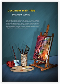 Canvas Painting Editable Word Template