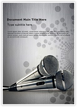Microphones Editable Word Template