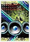 Disco Speakers Background