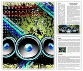 Disco Speakers Background Editable Word Template