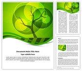 Green Tree Background Editable Word Template
