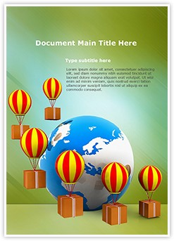 Cargo delivery and Globe Editable Word Template