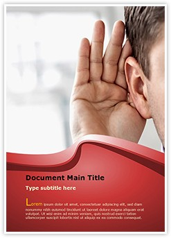 Effective listening Editable Word Template